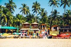 在Palolem海滩,果阿的海滩 免版税图库摄影