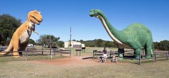在Paluxy河的恐龙谷在得克萨斯 免版税图库摄影