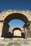 在Pamukkale土耳其的Hieropolis废墟 免版税库存图片