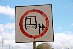 在panamericana的公共汽车站 库存图片