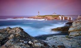 在Pancha海岛上的看法日落的 免版税图库摄影