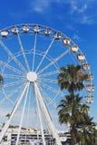 在Pantiero港口区域安装的弗累斯大转轮在戛纳f 免版税库存照片
