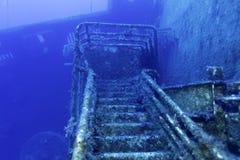 在Paphos附近的Zenobia海难 免版税库存图片