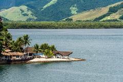 在Paraty,里约热内卢附近的海滨别墅 免版税库存图片