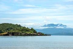 在Paraty,里约热内卢附近的海滨别墅 库存照片