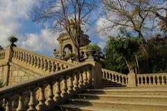 在parc de la Ciutadella的楼梯 免版税图库摄影