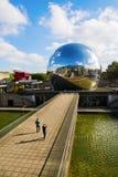 在Parc de la Villette,巴黎,法国的La Geode 库存照片