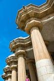 在Parc GÃ ¼侧房的建筑细节在巴塞罗那 免版税库存照片