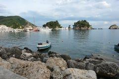 在Parga海湾的看法 库存照片
