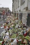 在PARIS_COPENHAGEN攻击的恐怖丹麦 图库摄影