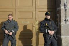 在PARIS_COPENHAGEN攻击的恐怖丹麦 免版税库存图片