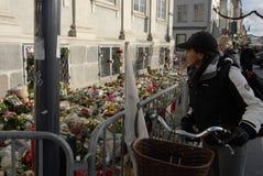 在PARIS_COPENHAGEN攻击的恐怖丹麦 库存图片