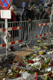在PARIS_COPENHAGEN攻击的恐怖丹麦 库存照片