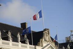在PARIS_COPENHAGEN攻击的恐怖丹麦 免版税图库摄影