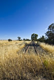 在Parkes,新南威尔斯附近的老铁路线 图库摄影