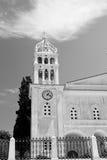在paros基克拉泽斯希腊老建筑学和希腊村庄Th 免版税库存图片