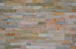 在pastell口气的现代砖样式墙壁 图库摄影