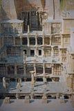 在Pathan的古老古吉特拉人stepwell 库存照片