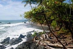 在Pavones2的海滩 免版税库存图片