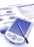 在pda报表 免版税库存图片