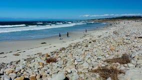 在Pebble海滩, Pebble海滩,蒙特里附近的海洋半岛, Calif 免版税库存图片