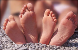 在Pebble海滩的四英尺 免版税库存照片