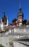 在Peles城堡的秋天,罗马尼亚 免版税图库摄影