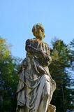 在Peles城堡,罗马尼亚的妇女雕象 图库摄影