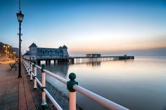 在Penarth码头的黎明 库存照片