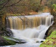 在Pendle水的瀑布 库存照片