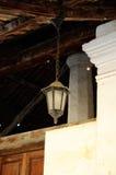 在Pengkalan Kakap老清真寺的老灯在Merbok,吉打 免版税库存照片
