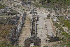 在Perge的罗马废墟,在安塔利亚,土耳其 库存照片
