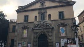 在pesaro -意大利的Teatro rossini 股票视频