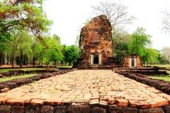在Petchaboon省,泰国的古老历史纪念碑 库存照片
