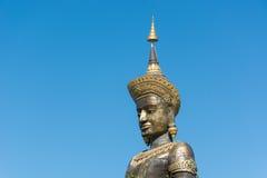 在Petchabun省, Th的黑大Tammaracha菩萨雕象 库存图片