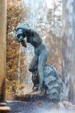 在Peterhof的狮子小瀑布 库存照片