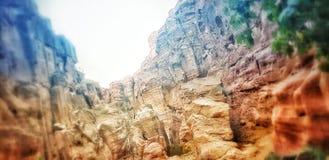 在petra之间岩石  库存图片