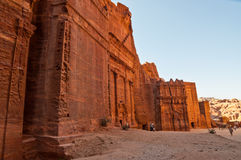 在Petra的古墓,约旦 免版税库存图片