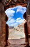 在Petra的坟茔 免版税库存图片