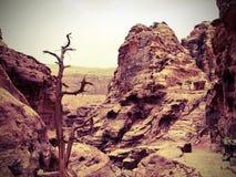 在Petra的山 库存照片