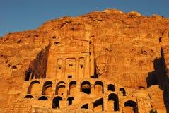 在Petra的皇家坟茔 免版税库存照片