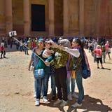 在Petra的Selfie 免版税库存照片