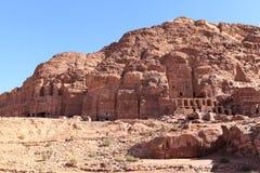 在Petra的Thw皇家坟茔 库存照片