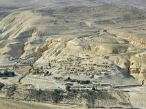 在Petra附近的被放弃的村庄,约旦 库存图片