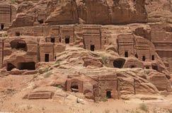 在Petra,约旦的无提名的坟茔 免版税图库摄影