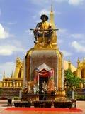 在Pha前面的雕象那Luang寺庙复合体 库存图片