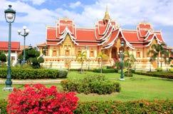 在Pha的寺庙Luang复合体,万象,老挝 库存图片