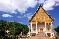 在Pha的寺庙Luang复合体,万象,老挝 免版税库存图片