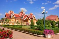 在Pha的寺庙Luang复合体,万象,老挝 免版税图库摄影