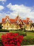 在Pha的寺庙Luang复合体,万象 免版税库存图片